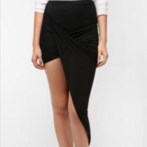 Urban Outfitters Black Twisted Skirt
